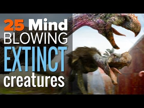 25 Mind Blowing Extinct Creatures You'll Be Glad Don't Exist