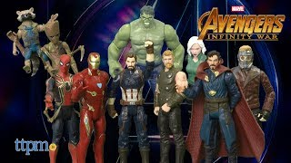 Avengers: Infinity War Iron Man, Iron Spider, Black Widow,Star-Lord Groot 6-inch Figures from Hasbro