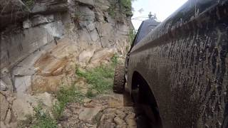 Two SAS Rangers cruising the lower rim trail, rocky trail, GoPro, SOR