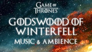 Game of Thrones Music & Ambience | Godswood of Winterfell - Beautiful Relaxing Music and Snowfall