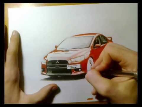 Mitsubishi Evo zīmējums