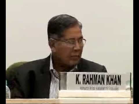 Mr. K Rahman Khan, Minority Affairs Minister, addresses National Editors' Conference-part1