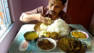 Eating Extreme Rice Today with 7 Food Dishes - Summer Indian Lunch Menu