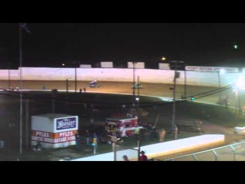 Port Royal Speedway 410 and 305 Sprint Car Highlights 7-26-14
