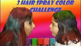 3 Hair Spray Color Challenge | gracenadbetsy