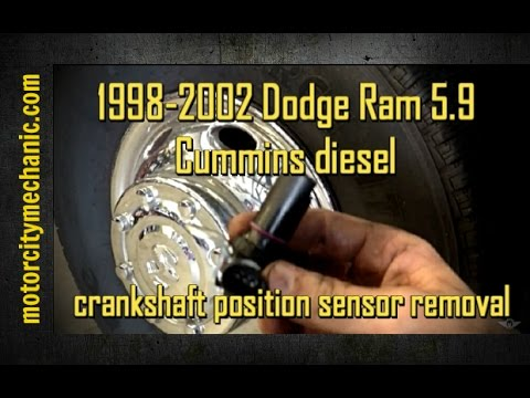 1998-2002 Dodge Ram 5.9 Cummins diesel crankshaft position sensor removal