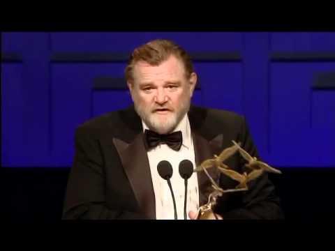 Brendan Gleeson accepts Domhnall Gleeson's Rising Star Award - IFTA 2011