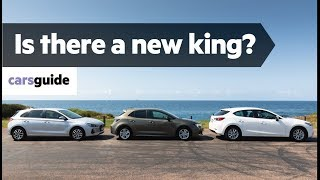 Toyota Corolla vs Mazda 3 vs Hyundai i30  2019 comparison review