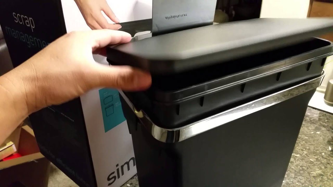 Simplehuman In Cabinet Trash Can 10l Youtube