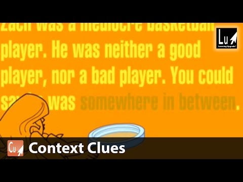 Context Clues From Comprehension Learning Upgrade