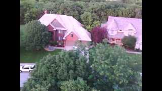 Quadcopter roof and chimney inspection. onboard video