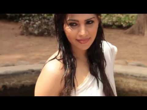 South Actress Anjana Hot Video In Wet White Transparent Saree And Sleeveless Blouse video
