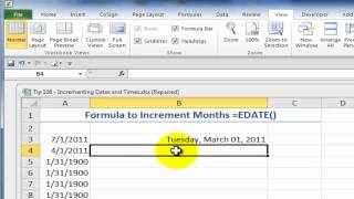 Use Excel's AutoFill Options and Formulas to Increment Series of Dates