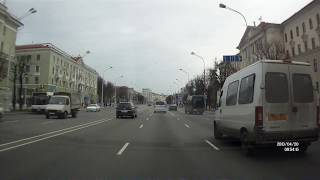 Mińsk z wideorejestratora. Minsk with the car recorder. Минск через регистратор.