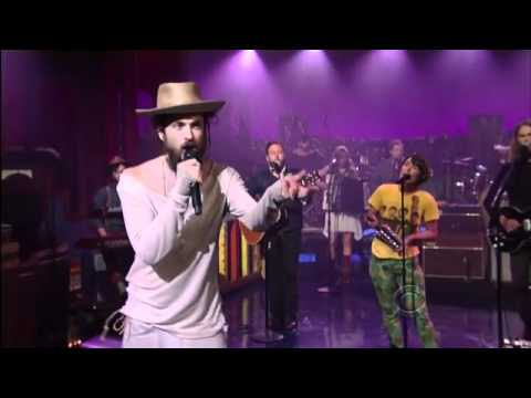 Edward Sharpe And The Magnetic Zeros Live On Letterman - Man On Fire - 2012 video