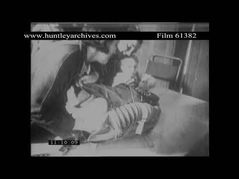 Children Flee Bombing Raid, World War Two. Archive film 61382