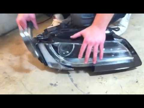 DIY How to dismantle Audi A5 headlight - YouTube