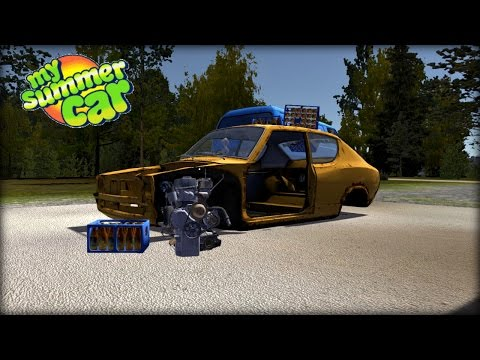 My Summer Car Gameplay- EP 2- Drinking & Building the Engine