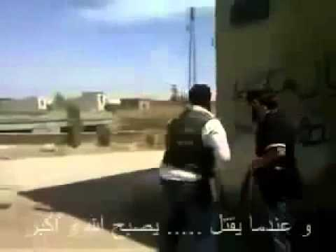 really perfect hit   Syrian assad army kill syrian rebel