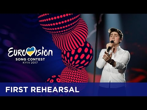Brendan Murray - Dying To Try (Ireland) First rehearsal in Kyiv