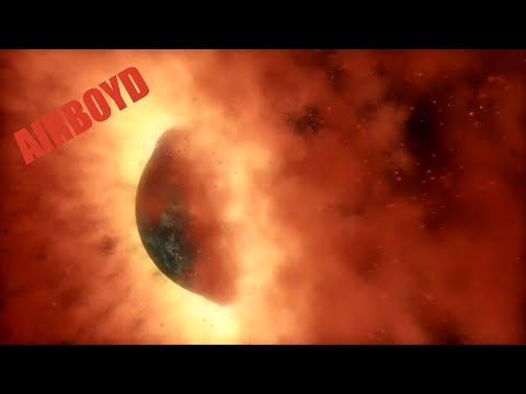 Planet Smash-Up Animation NASA JPL Spitzer Space Telescope HD
