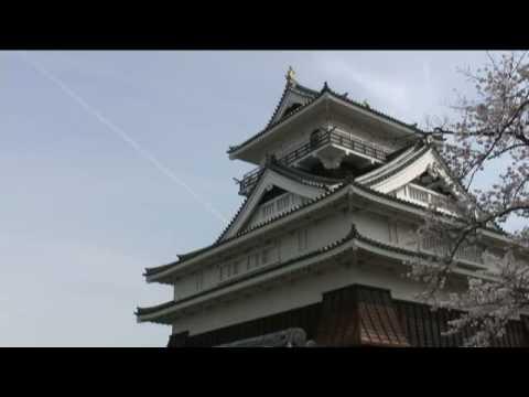 上山城(3) 天守と桜