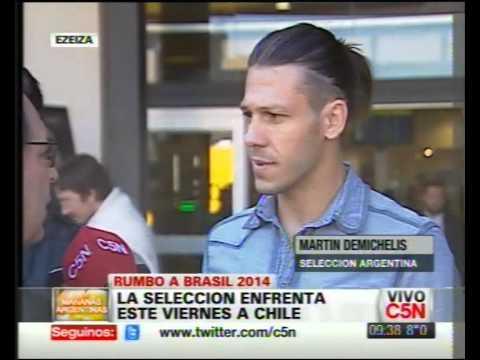 C5N - SELECCION ARGENTINA: LLEGAN LOS JUGADORES [HABLO MARTIN DEMICHELIS]