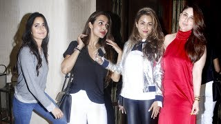 Bollywood Celebs At Manish Malhotra's House Party - Kareena Kapoor,Katrina Kaif,Malaika