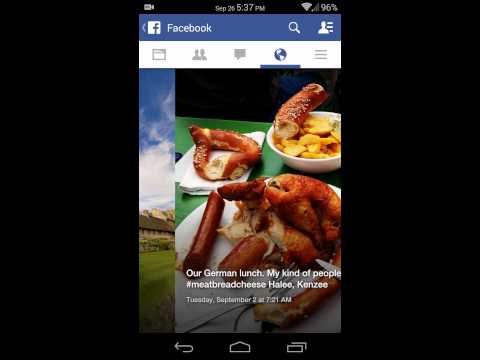 Facebook slideshow feature, Android app version