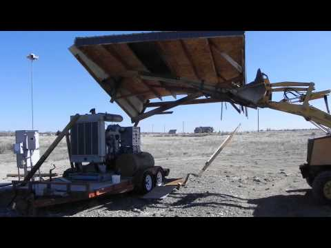 03-20-2014 wind damaged generator shelter roof removal