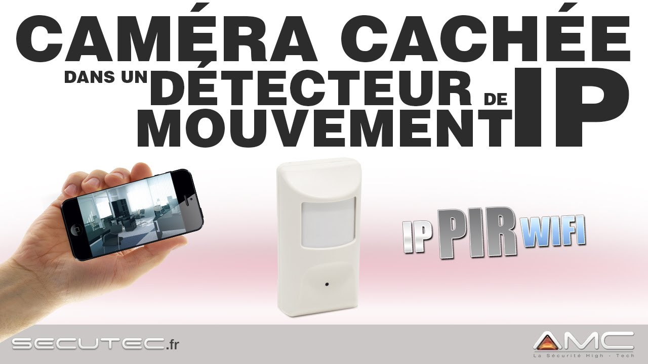 d tecteur de mouvement avec camera cach e ip wifi infrarouge secutec fr youtube. Black Bedroom Furniture Sets. Home Design Ideas