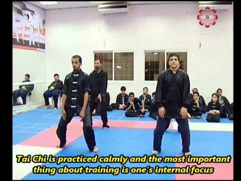 Part 11: Tai Chi, Yang 24 (partial) - Kuwait Sports Channel Martial Arts Special w/ Sifu Khader Deng