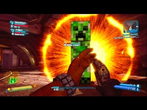 Easter Egg do Minecraft no Borderlands 2
