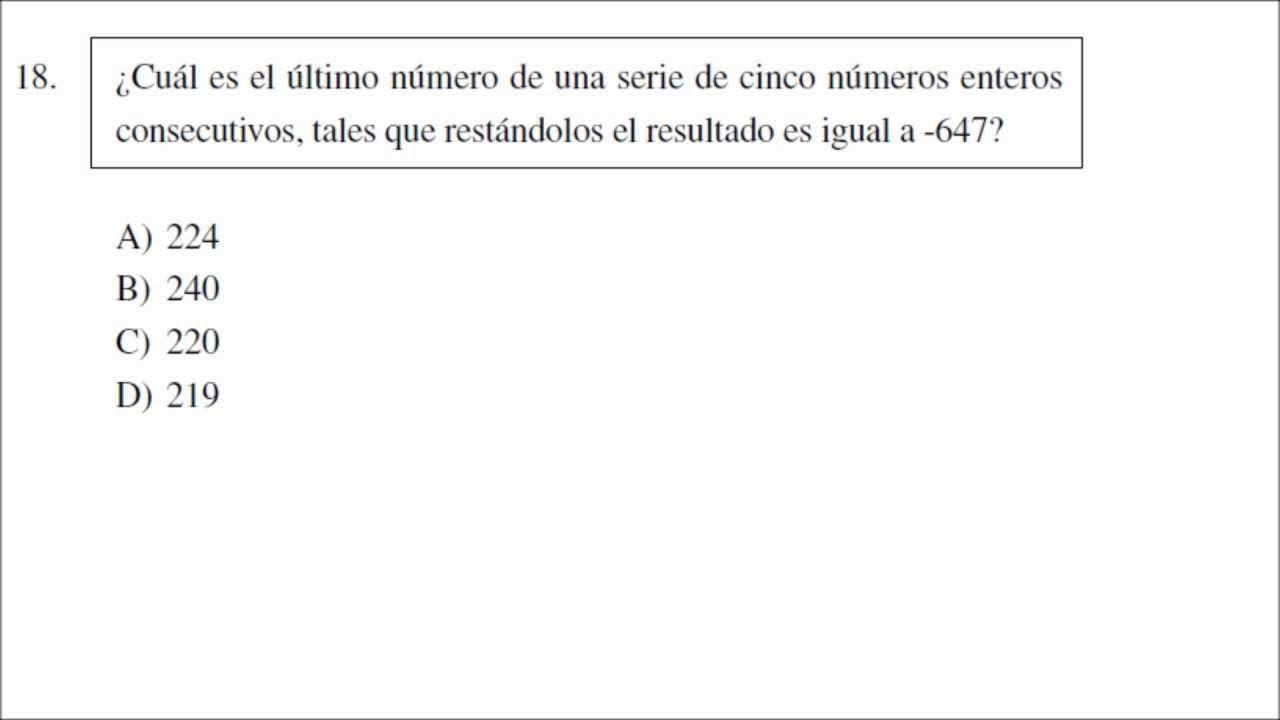 examen ceneval matematicas: