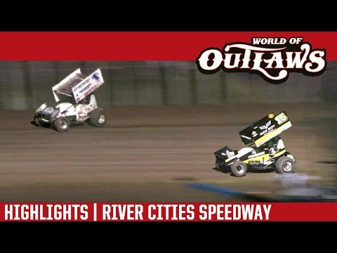 World of Outlaws Craftsman Sprint Cars River Cities Speedway June 17th, 2016   HIGHLIGHTS