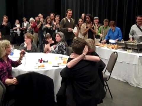 Surprise Proposal at BEAUTY & THE BEAST Cast Party