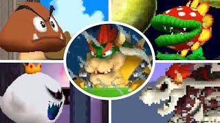 Newer Super Mario Bros DS - All Bosses (No Damage)