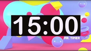 Timer for Kids 15 Minutes! Timer with Music for Classroom, Children! Instrumental Music for Kids!