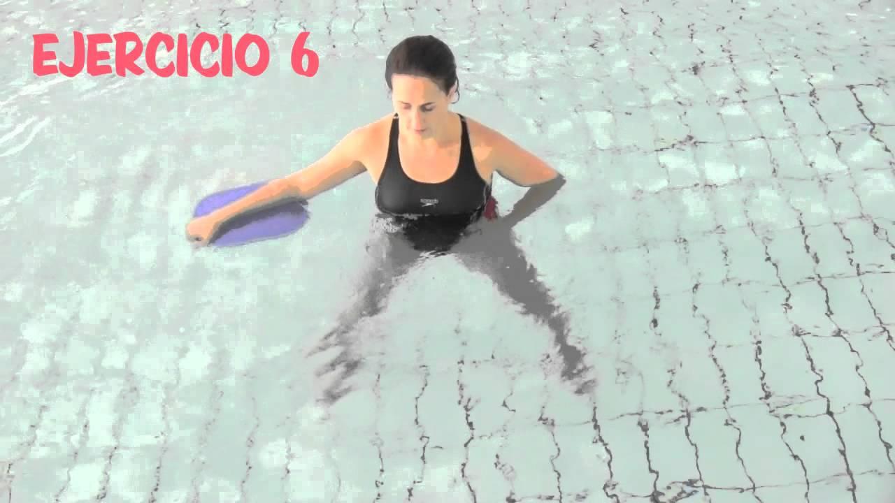 aquagym ejercicios en el agua con la tabla youtube
