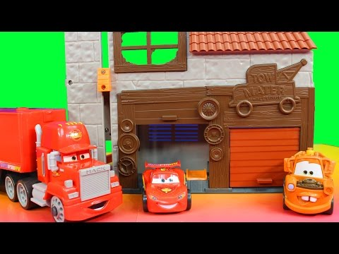 Disney Pixar Cars Imaginext Lightning McQueen Red Hauler Mater Garage Just4fun290 toys