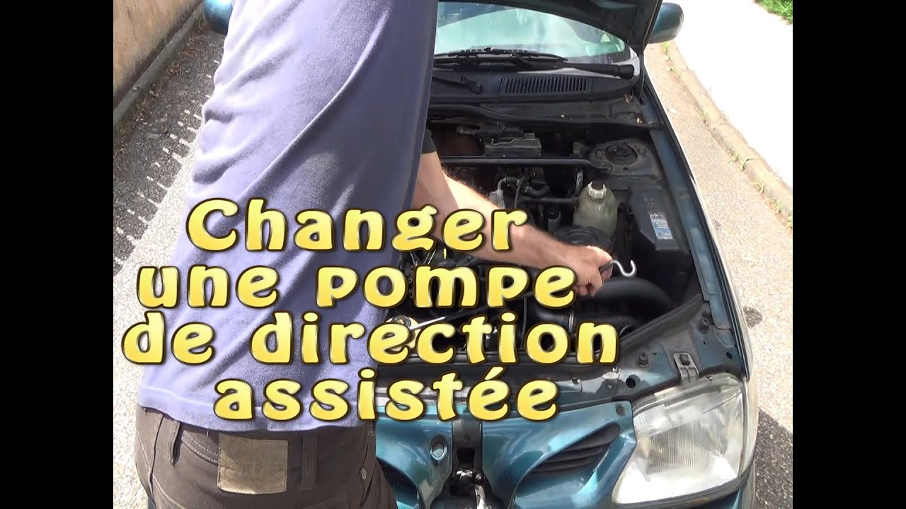 Changer et purger une pompe de direction assistée - YouTube