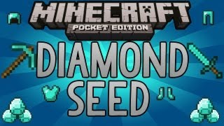 Minecraft Pocket Edition | *NEW* DIAMOND SEED - With Iron, Gold, Coal, Redstone!
