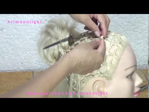 Peinado Panal de Abeja con Anchoas Planas/hairstyle honeycomb/прическа соты