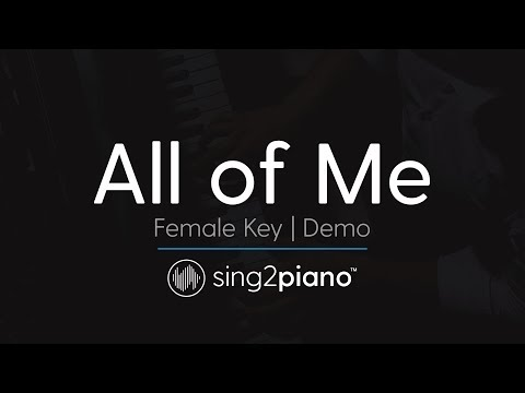 All Of Me (female Key - Karaoke Demo) John Legend video