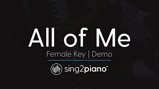 All Of Me Female Key Karaoke Demo John Legend