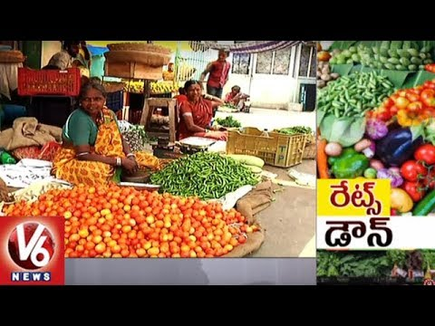 Vegetable Prices Witness A Decrease In Hyderabad Markets | V6 News