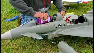 RC EUROFIGHTER  SCALE MODEL EDF ELECTRIC JET FLIGHT DEMONSTRATION