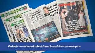 Digital Newspaper Solution - Finishing Inkjet Print at super fast speeds