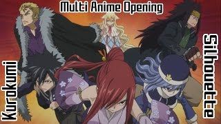 Multi Anime Opening Silhouette - Naruto Shippuden 16 Opening