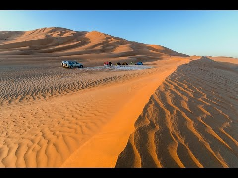 Driving in the Rub' al Khali (Empty Quarter) in Oman